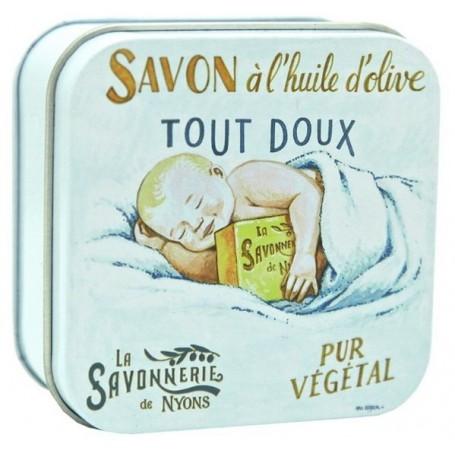 savon en boîte métal, Champ de Lavande from La Savonnerie de Nyons in Paris