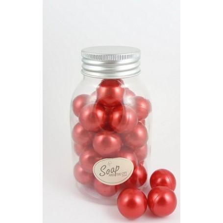 Perles de bain en flacon de 30, Fraise Savons et Bougies à Paris chez Soap and the City, savons, bougies, parfums, encens et ...