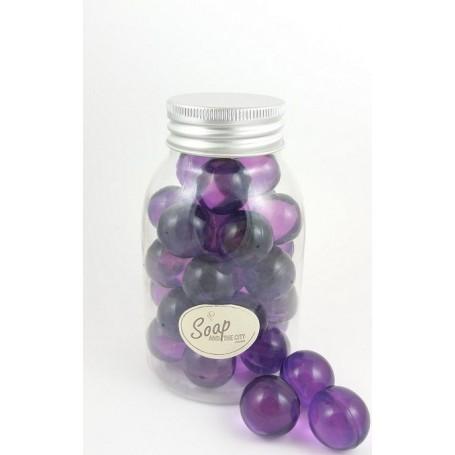 Perles de bain en flacon de 30, Lavande Savons et Bougies à Paris chez Soap and the City, savons, bougies, parfums, encens et...