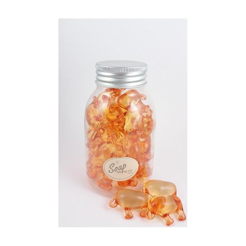Perles de bain en flacon de 30, Mandarine