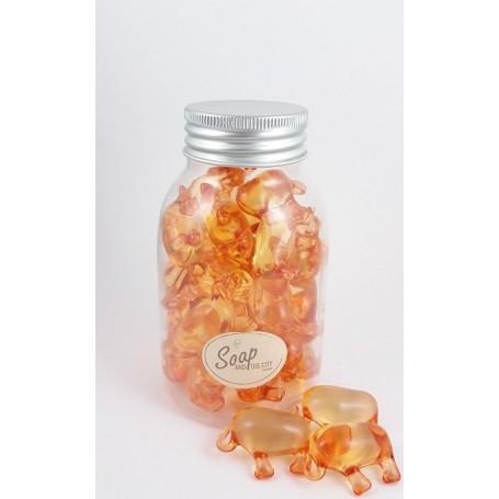 Perles de bain en flacon de 30, Mandarine Savons et Bougies a Paris