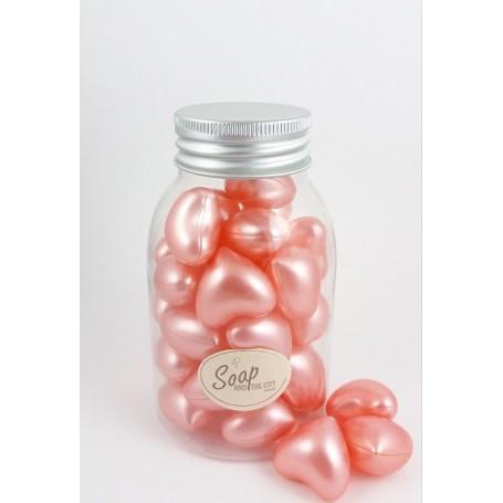 Perles de bain en flacon de 30, Rose Savons et Bougies a Paris