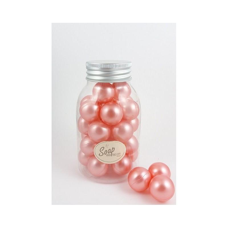Perles de bain en flacon de 30, Rose