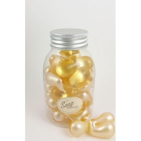 Perles de bain en flacon de 30, Ananas Savons et Bougies à Paris chez Soap and the City, savons, bougies, parfums, encens et ...