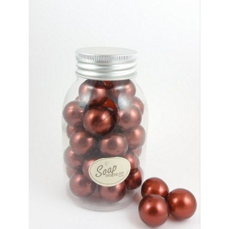 Perles de bain en flacon de 30, Vanille des Iles Savons et Bougies à Paris chez Soap and the City, savons, bougies, parfums, ...