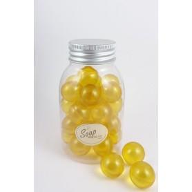 Boules et perles de bain Perles de bain en flacon de 30, Verveine Citron de Bomb Cosmetics