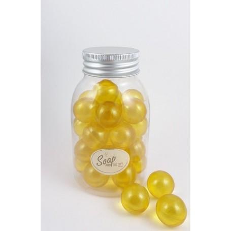 Perles de bain en flacon de 30, Verveine Citron Savons et Bougies a Paris