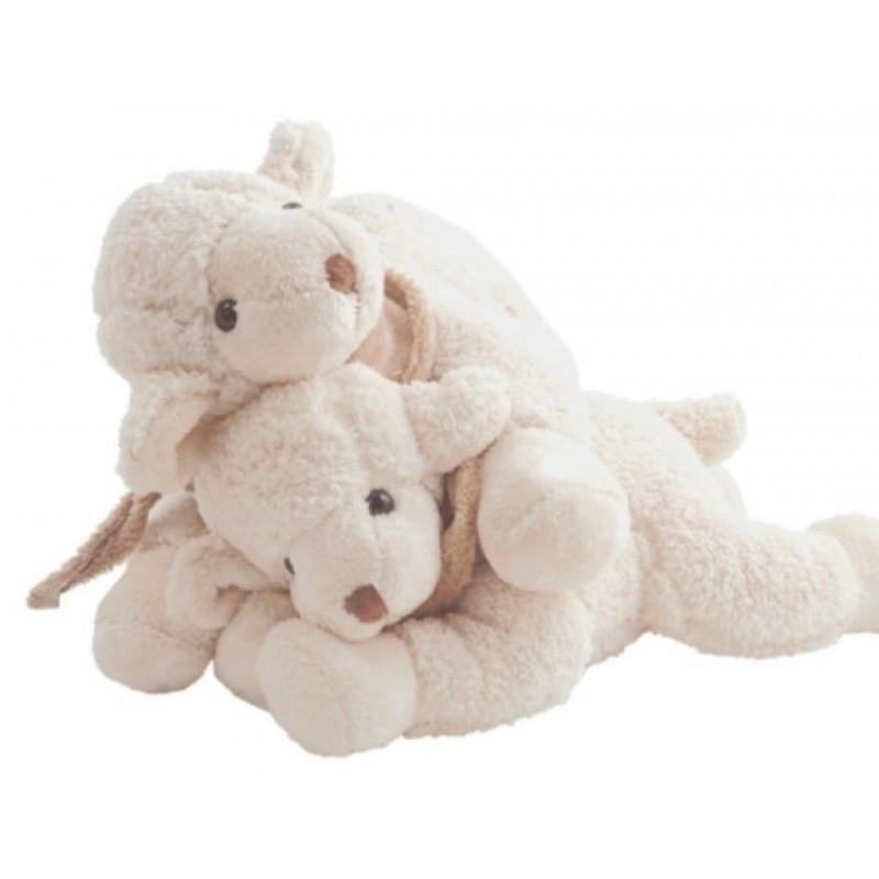 Peluche agneau, Lazy Lefty blanc
