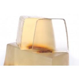 Handgesneden zepen Orange blossom, cut soap translucent made by Autour du Bain