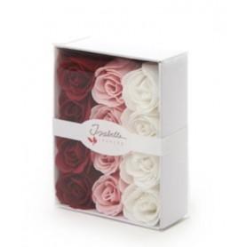 Savon divers Boîte cadeau avec 12 roses en savon made by De Laurier