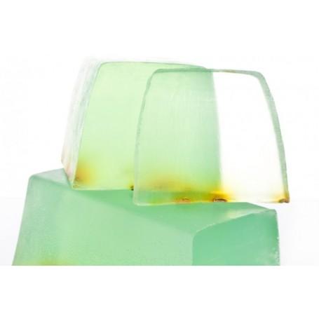 Handgesneden zepen Cornflower-Bergamot, cut soap translucent made by Autour du Bain