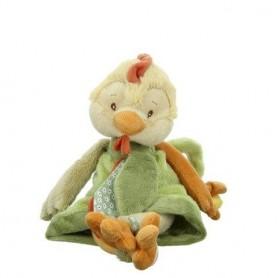 Peluches et doudous Peluche poule, Sweet Chicky green de Bukowski