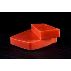 Handcut soaps Tomato Leaf, cut soap made by Autour du Bain