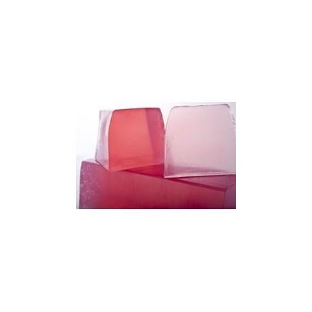 Rosa e Lychee, sapone al taglio, translucidi