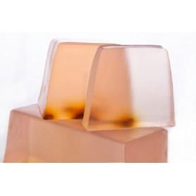 Handgesneden zepen Moroccan Rose, cut soap translucent made by Autour du Bain