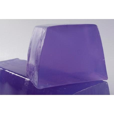 Handgesneden zepen Delicate Violet, cut soap translucent made by Autour du Bain