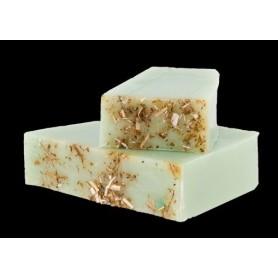 Handgesneden zepen Aloe Vera, cut soap for sensitive skins made by Autour du Bain