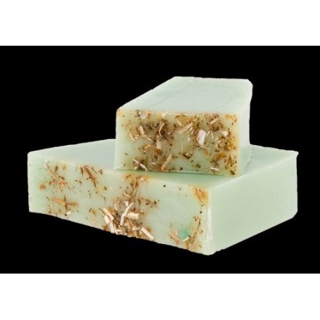 Handgesneden zepen Aloe Vera, cut soap for sensitive skins made by Autour du Bain