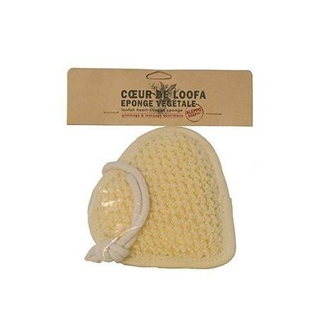 Savon d'Alep Coeur de Loofa - Eponge végétale made by