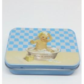 ACCESSOIRES Boîte métal, Bébé bleu de