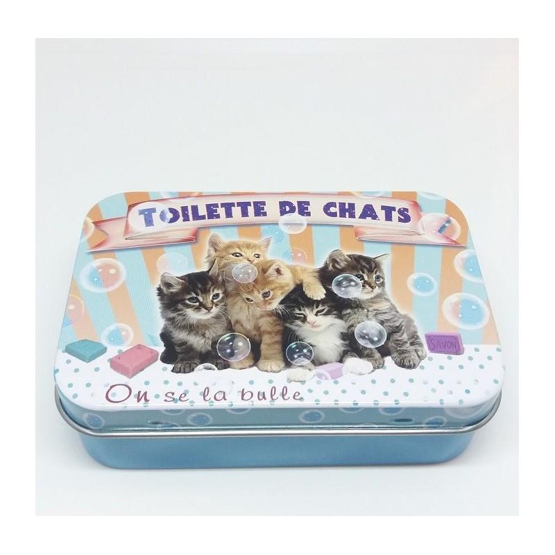 Boîte métal, Toilette des Chats