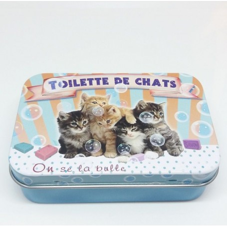ACCESSOIRES Boîte métal, Toilette des Chats de