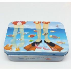 ACCESSOIRES Boîte métal, Les pieds dans l'eau made by
