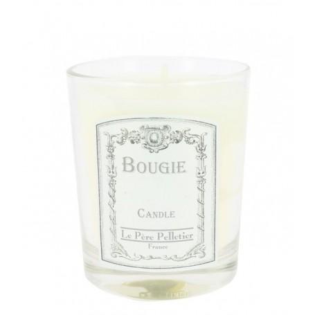 Coton, Bougie parfumée 35h Le Père Pelletier à Paris chez Soap and the City, savons, bougies, parfums, encens et peluches