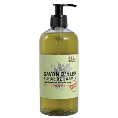 Savon Alep liquide Jasmin, 500ml Tadé à Paris chez Soap and the City, savons, bougies, parfums, encens et peluches
