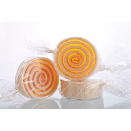 Poire Caramel, Candy zeep van Autour du Bain in Parijs bij Soap and the City, zepen, parfums, wierook, kaarzen en knuffels