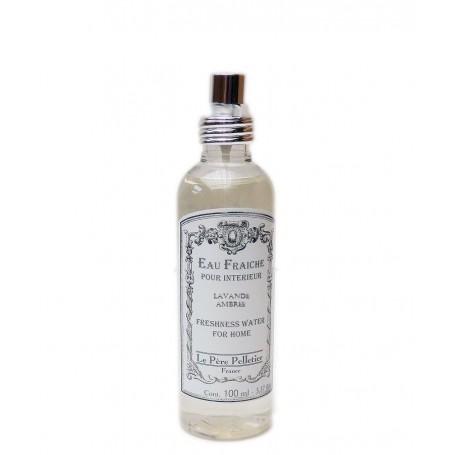 Vaporisateurs parfums Eau Fraîche, Lavande Ambrée, parfum d'ambiance pour maison intérieur, 100ml de Le Père Pelletier