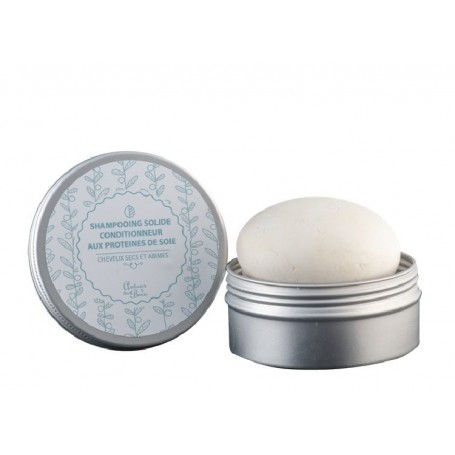 Galet de shampooing solide cheveux secs et abimés, aux protéines de soie from Autour du Bain in Paris