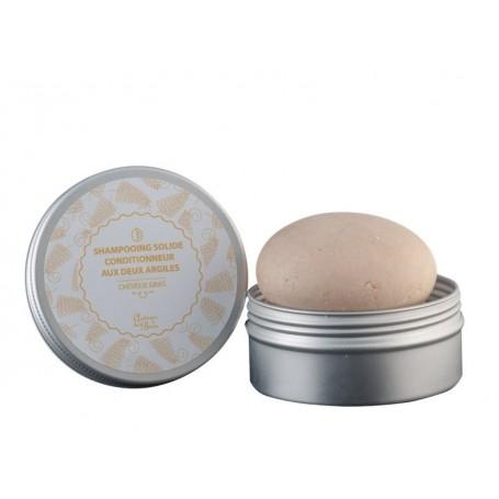 Galet de shampooing solide cheveux gras, aux deux argiles van Autour du Bain in Parijs bij Soap and the City, zepen, parfums,...
