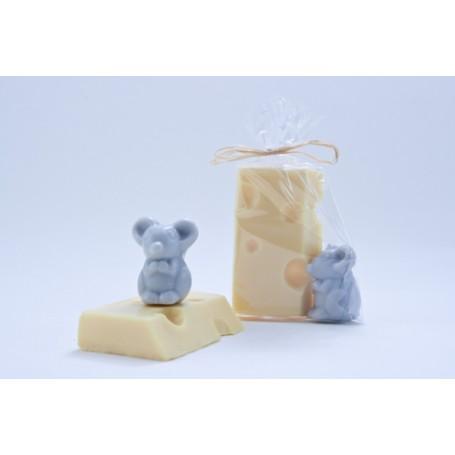 Savon fromage, Emmental avec souris grise from La Boutique in Paris