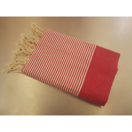 Fouta 100 x 200 cm - fuchsia La Boutique à Paris chez Soap and the City, savons, bougies, parfums, encens et peluches