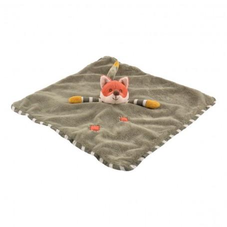 Doudou Foxy baby rug, vert, 33cm