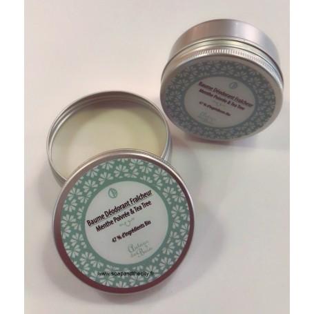 Baume déodorant fraîcheur menthe Autour du Bain à Paris chez Soap and the City, savons, bougies, parfums, encens et peluches