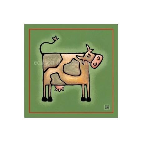 Carte postale, Vache La Boutique a Paris