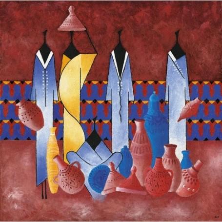 Carte postale, Masaï potiers La Boutique a Paris