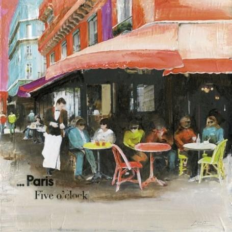 Carte postale, Terrasse de Café
