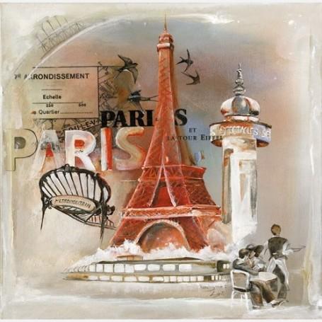 Carte postale, Tour Eiffel from La Boutique in Paris