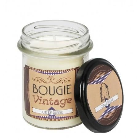 Cuir de Russie, Bougie parfumée 30h Odysee des sens à Paris chez Soap and the City, savons, bougies, parfums, encens et peluches