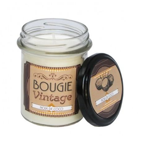 Noix de Coco, Bougie parfumée 30h Odysee des sens à Paris chez Soap and the City, savons, bougies, parfums, encens et peluches