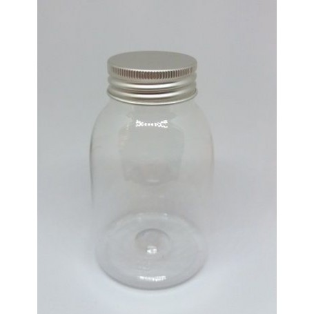 Home Flacon Plastique PET 250ml, avec couvercle alu made by