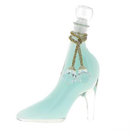 Gel Douche - Bain moussant en chaussure, bleu nacré, Océan Tentation à Paris chez Soap and the City, savons, bougies, parfums...