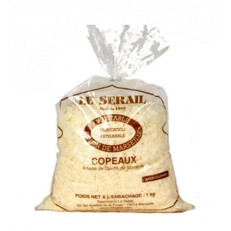 Copeaux savon de Marseille, 1kg sans parfum, pour lessive, Le Serail Le Serail de Marseille à Paris chez Soap and the City, s...