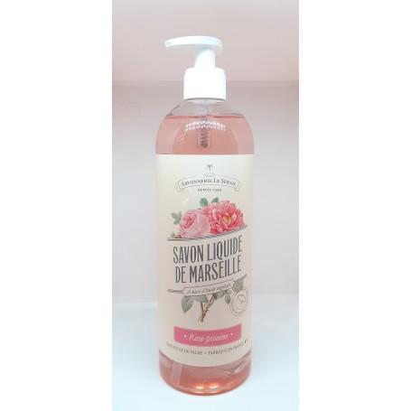 Savon de Marseille liquide Rose Pivoine, 750ml Le Serail de Marseille à Paris chez Soap and the City, savons, bougies, parfum...