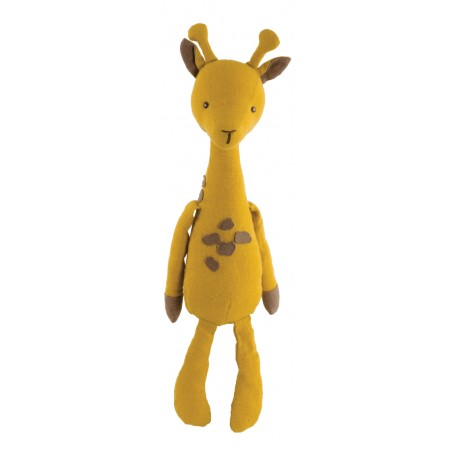 Peluche Giraffe en lin, April Bukowski à Paris chez Soap and the City, savons, bougies, parfums, encens et peluches
