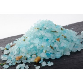Bath salts -and oils Bath salt, Bleuet Bergamotte made by Autour du Bain