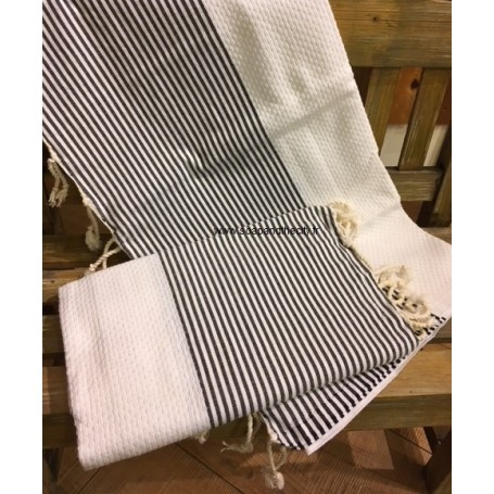 Fouta 100 x 200 cm - Blanche La Boutique à Paris chez Soap and the City, savons, bougies, parfums, encens et peluches